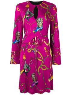 Etro платье с поясом и принтом Anastase