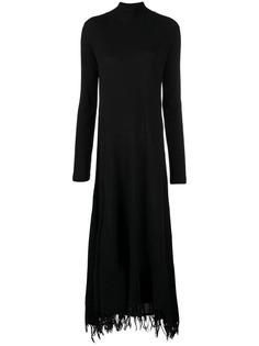 Jil Sander платье-свитер с высоким воротом