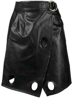 Self-Portrait юбка с отделкой люверсами