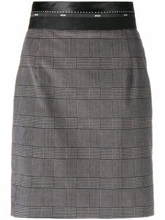 MSGM tartan fitted skirt