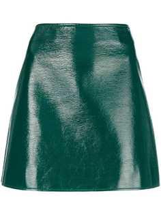 Courrèges лакированная мини-юбка