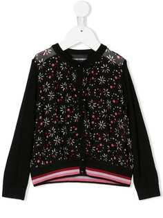 Emporio Armani Kids куртка-бомбер с принтом