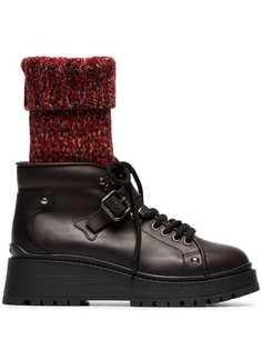 Miu Miu ботинки с носочной вставкой
