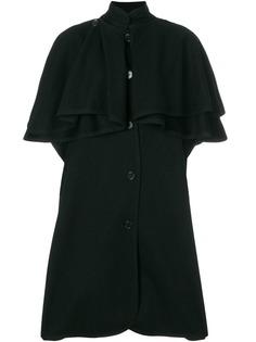 Yves Saint Laurent Vintage пальто средней длины с накидкой