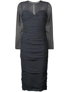 Max Mara полупрозрачное платье сборного дизайна