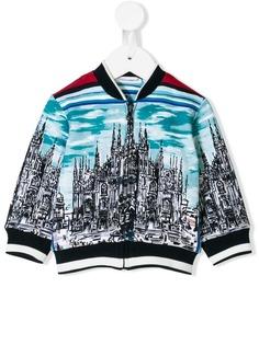 Dolce & Gabbana Kids куртка-бомбер с принтом Duomo