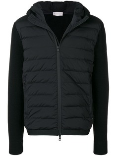 Moncler дутая вязаная куртка