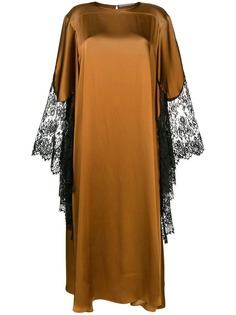 Christopher Kane атласное платье с кружевом