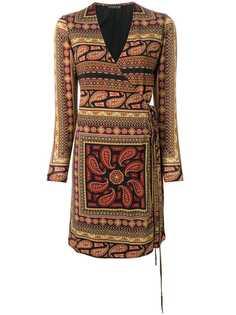 Etro платье с запахом с принтом пейсли