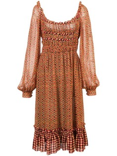 Proenza Schouler шифоновое платье с вырезом