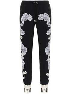 Dolce & Gabbana спортивные брюки с кружевной отделкой