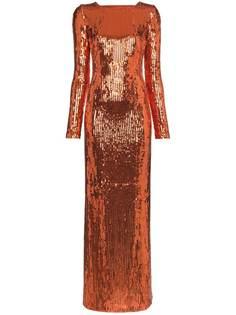 Galvan вечернее платье с пайетками