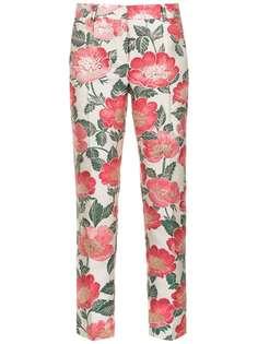 Dolce & Gabbana укороченные брюки скинни с цветочным принтом