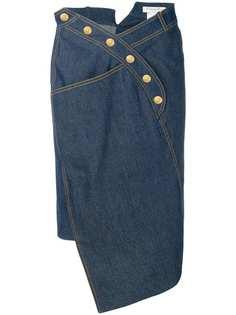 Christian Dior Vintage джинсовая юбка асимметричного кроя