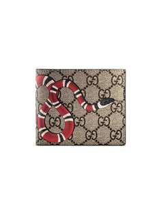Gucci кошелек с принтом Kingsnake и узором GG Supreme