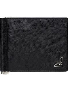Prada кошелек из кожи Saffiano с логотипом