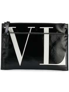 Valentino клатч с принтом логотипа