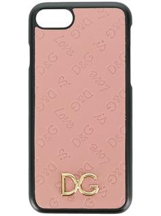Dolce & Gabbana тисненый чехол для iPhone 7 D&G Love