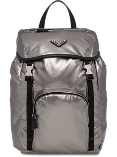 Prada рюкзак с ламинированным эффектом и логотипом