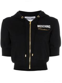 Moschino приталенная укороченная толстовка с капюшоном