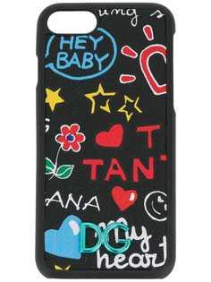 Dolce & Gabbana чехол для iPhone 7 с принтом граффити