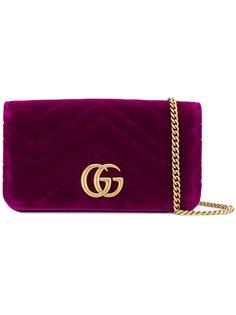 Gucci фактурный клатч с логотипом