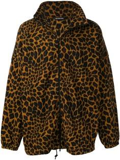 Balenciaga флисовая куртка с леопардовым принтом