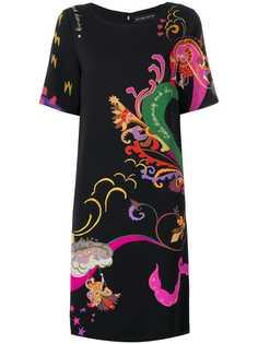 Etro платье с короткими рукавами с принтом