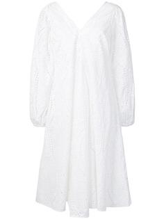 Ganni платье с ажурной вышивкой