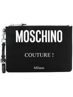 Moschino клатч с принтом логотипа