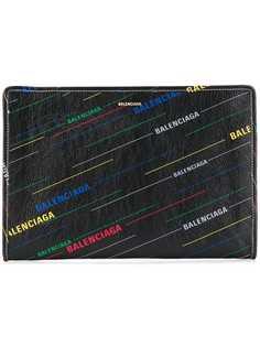 Balenciaga клатч Bazar с принтом
