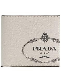 Prada бумажник с принтом логотипа