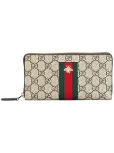 Gucci континентальный кошелек Web GG Supreme