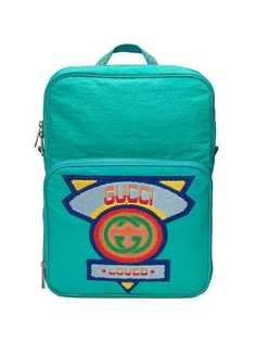 Gucci рюкзак среднего размера с нашивкой логотипа