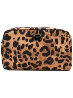 Dolce & Gabbana косметичка с леопардовым принтом