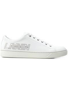 Lanvin кроссовки на шнуровке с объемным принтом