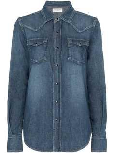 Saint Laurent джинсовая рубашка с карманами