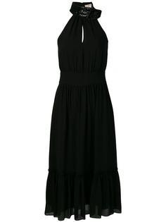 Michael Michael Kors платье-миди с вырезом-петлей халтер