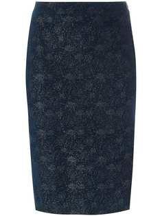 Romeo Gigli Vintage блестящая юбка-карандаш