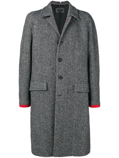 Hilfiger Collection однобортное пальто с узором елочка