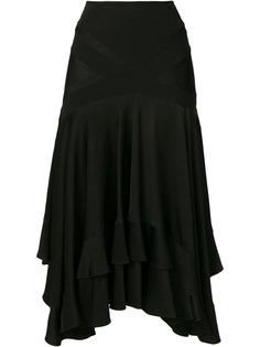 Christian Dior Vintage многослойная юбка свободного кроя