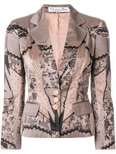 Christian Dior Vintage пиджак с кружевным принтом