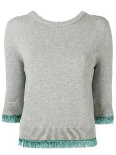Chloé укороченный свитер с контрастной отделкой