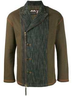 Jean Paul Gaultier Vintage байкерский пиджак с выцветшими джинсовыми панелями