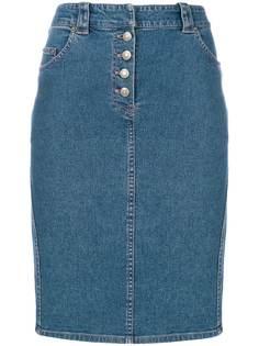 Christian Dior Vintage джинсовая юбка миди