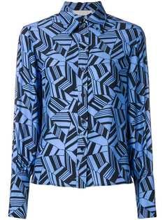 Chloé рубашка с геометрическим принтом