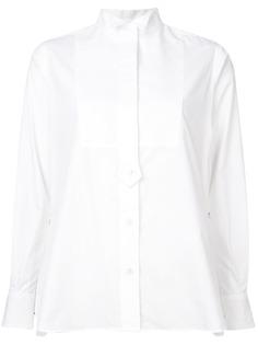 Sacai рубашка под смокинг в плиссированными боковыми панелями