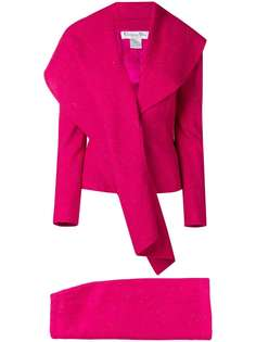 Christian Dior Vintage юбка с пиджаком с широкими и удлиненными лацканами