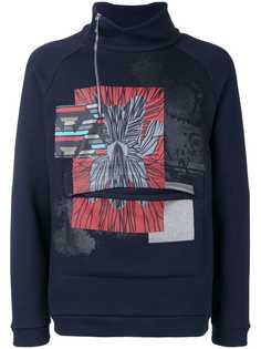 Emporio Armani printed high neck sweatshirt