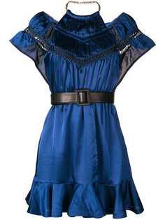 Self-Portrait платье мини с поясом